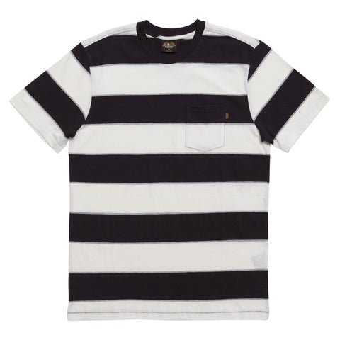 Loser Machine Healy Knit S/S Pocket Tee (Black/White)
