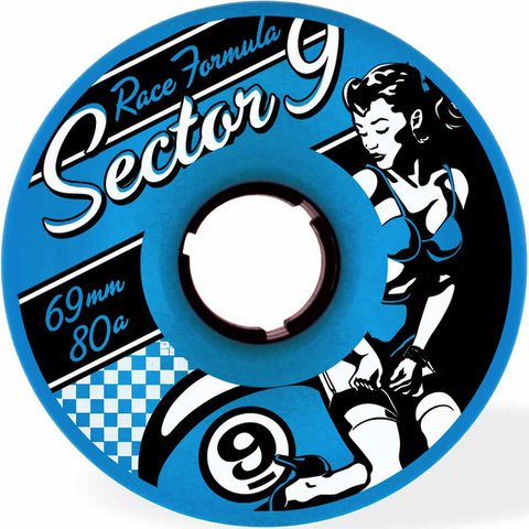 Sector 9 Race Formula Wheels (69mm/80a/Blue)