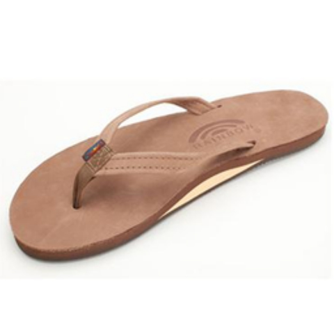 Rainbow Girls Premier Sandals (Dark Brown/Single/Narrow Strap)