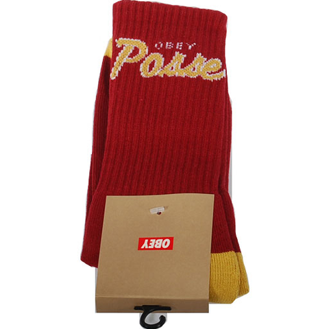 Obey Posse Socks (Cardinal/Gold)