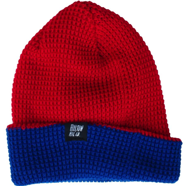 Brixton Duncan Beanie (Red/Royal)