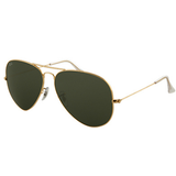 Ray Ban Aviator Large Metal Sunglasses (58f/Gold/Grey Lens)