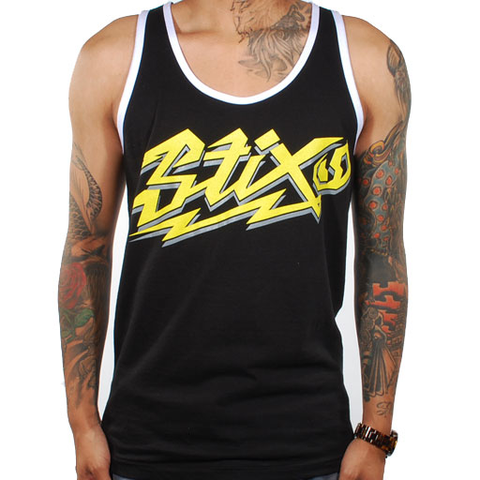 Stix Havabru Tank Top (Black/Yellow/White)