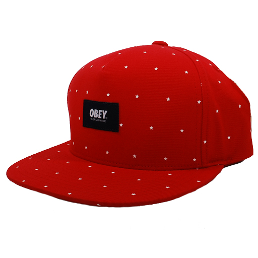 Obey Franklin Snapback Hat (Red)