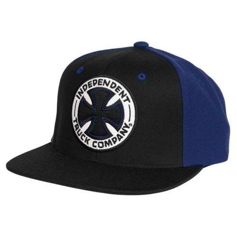Independent Fade T/C Snapback Hat (Black/Light Navy)