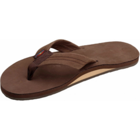 Rainbow Mens Premier Sandals (Expresso/Single/Wide Strap)