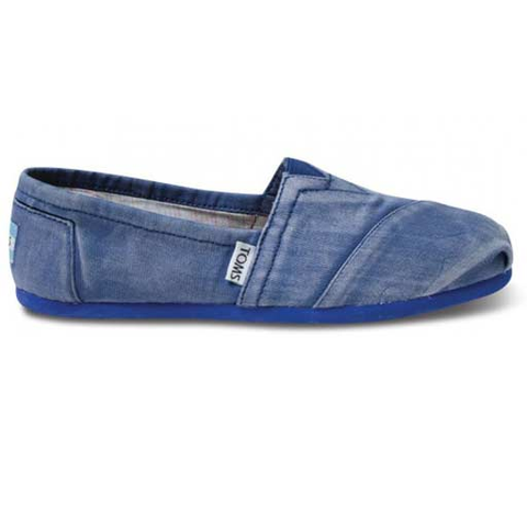 Toms Women's Palmette Classic Slip-On Shoes (Blue)
