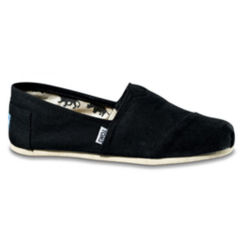Toms Men's Classic Canvas Slip-On Shoes (Black)
