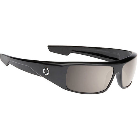 Spy Happy Lens Logan Sunglasses (Matte Black/Polarized Bronze Lens)