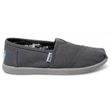Toms Youth Classic Canvas Slip-On Shoes (Ash)
