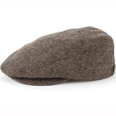 Brixton Hooligan Hat (Brown/Khaki Herringbone)