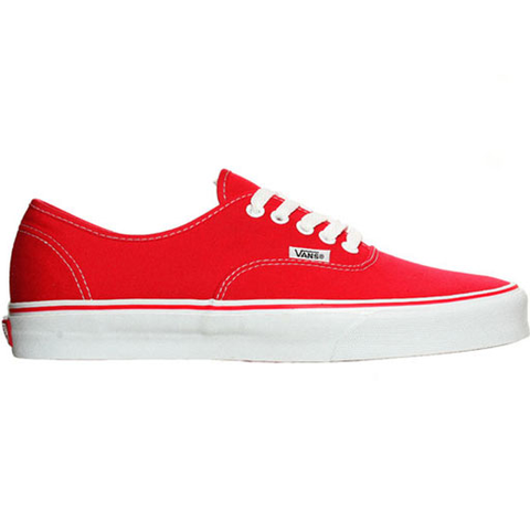 Vans Mens Authentic Shoes (Red)
