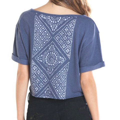 Obey Girls Sixto Cropped Tee (Indigo)