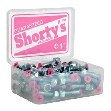 "Shortys Single Hardware Bolt and Nut (1""/Phillips/Pink Tip)"