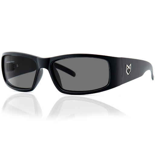 Madson Premo Sunglasses (Black Gloss/Grey Lens)