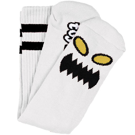 Toy Machine Monster Face Socks (White)
