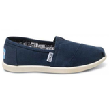 Toms Youth Classic Canvas Slip-On Shoes (Navy)