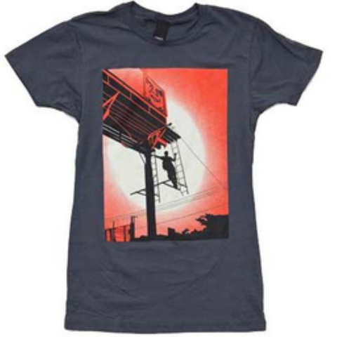 Obey Shepard Billboard Girls Tee (Asphault)
