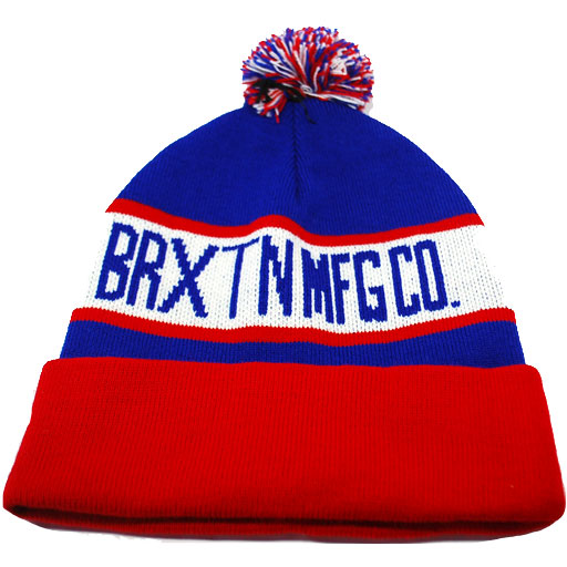 Brixton Fairmont Pom Beanie (Royal/Red)