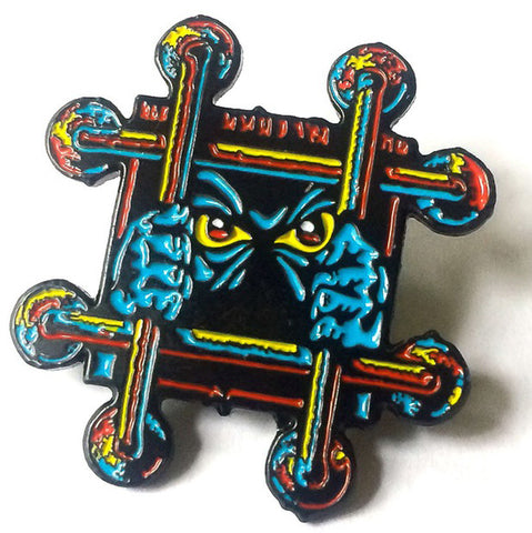 Black Label OG Bars Enamel Lapel Pin