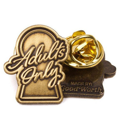 Good Worth Adults Only Lapel Pin