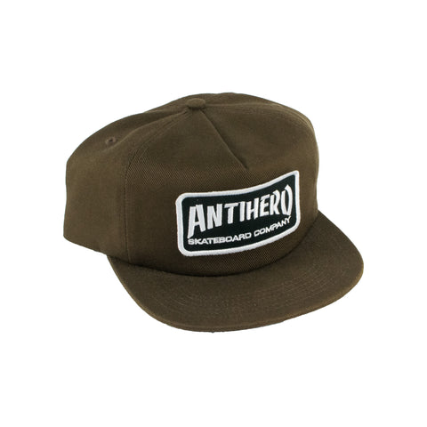 Anti Hero Skate Co Patch Snapback Hat (Brown)