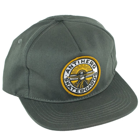 Anti Hero Stay Ready 5 Panel Snapback Hat (Charcoal)