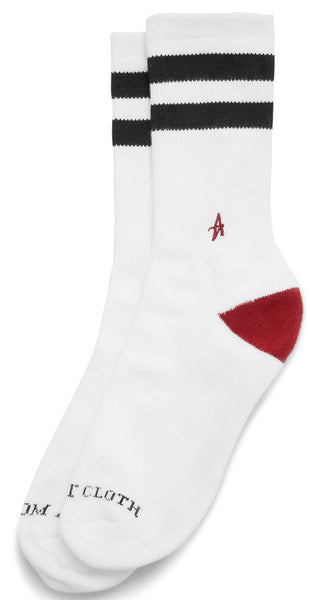 Altamont A Stripe Crew Socks (White)