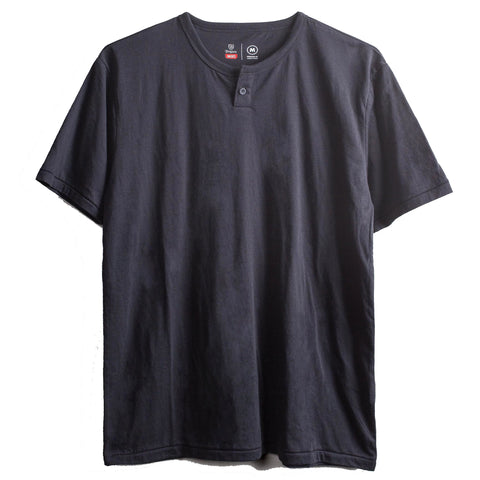Brixton Basic S/S Henley Tee (Washed Black)