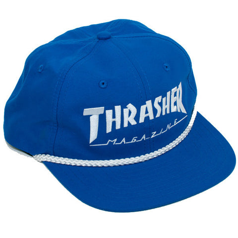 Thrasher Rope Snapback Hat (Blue/White)
