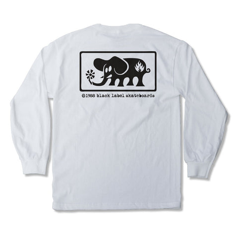 Black Label Elephant Framed L/S Tee (White)