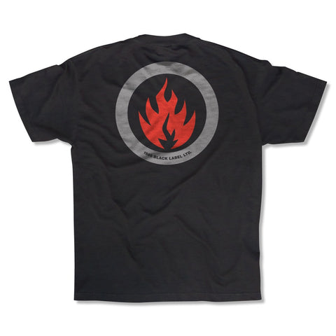 Black Label Circle Flame Limited S/S Tee (Black)