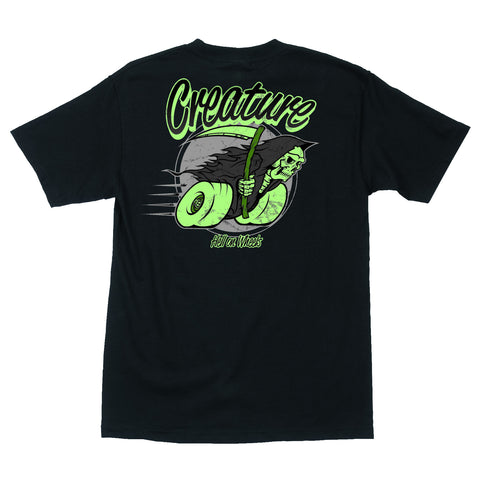 Creature Hell On Wheels Pocket S/S Tee (Black)