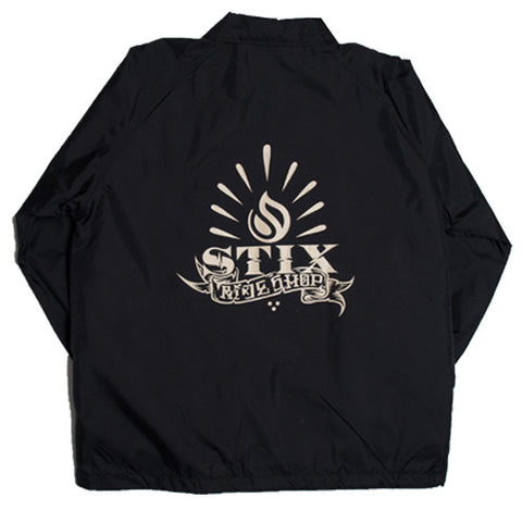 Stix Por Vida Coach Jacket (Black/Tan)