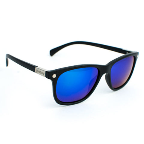 Glassy Biebel Sunglasses (Matte Black/Green Mirror Polarized Lens)