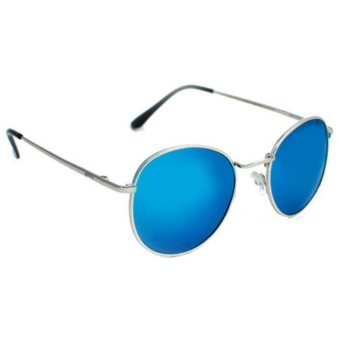 Glassy Carlos Sunglasses (Silver/Teal Mirror Polarized Lens)