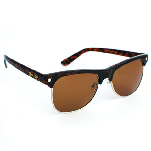 Glassy Shredder Sunglasses (Coffee Tort/Brown Polarized Lens)