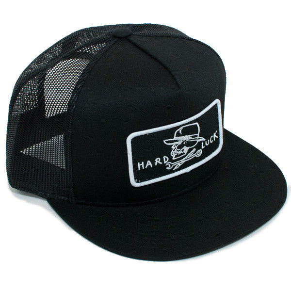 Hard Luck OG Logo Snapback Trucker Hat (Black)