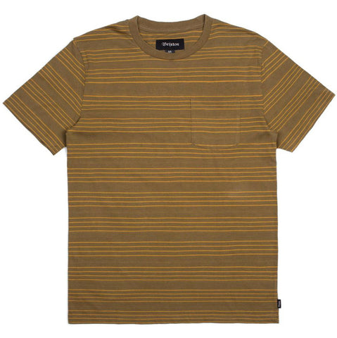 Brixton Hilt Washed Knit S/S Pocket Tee (Olive)
