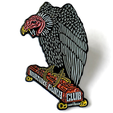 Black Label Vulture Curb Club Enamel Lapel Pin