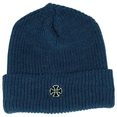 Independent Cross Ribbed Long Shoreman Beanie (Heather Denim)