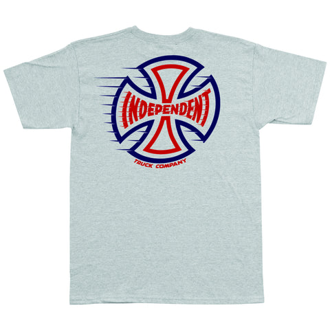 Independent T/C Speeding Cross Regular S/S Tee (Athletic Heather)