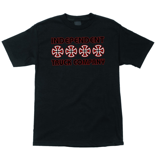 Independent Stacked Color Regular S/S Tee (Black)