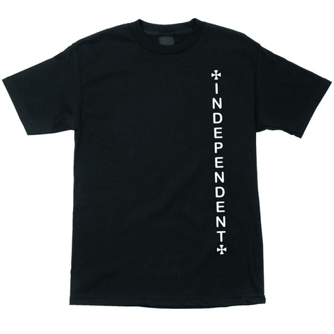 Independent Vertical S/S Tee (Black)
