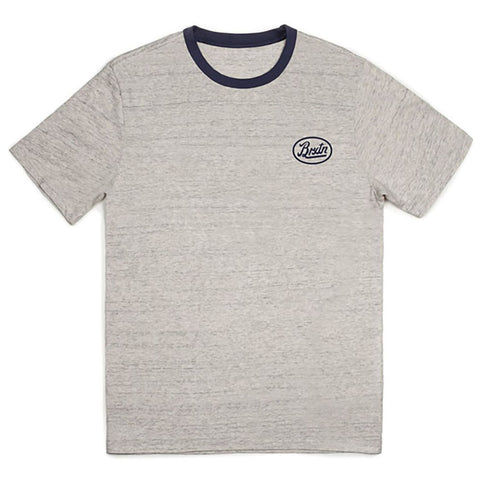 Brixton Kansas Premium S/S Tee (Heather Stone)