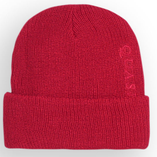 Quasi Brushed Wool Low Beanie (Red)