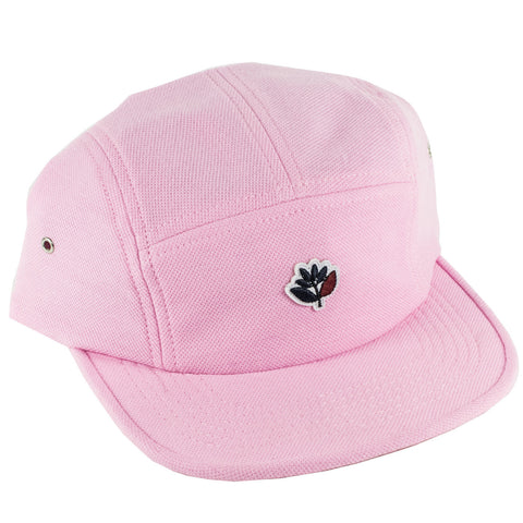 Magenta Coton Pique 5 Panel Strapback Hat (Rose)