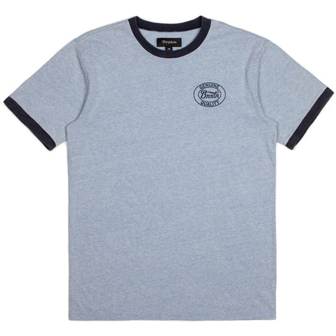 Brixton Merced Knit S/S Tee (Heather Blue/Navy)