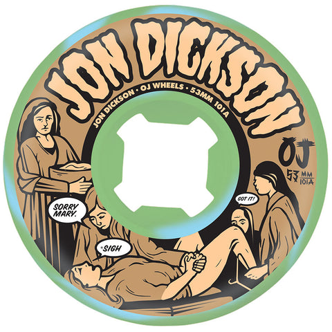 Oj Dickson Sorry EZ Edge Wheels (101a/Blue/Green Swirl) 53mm