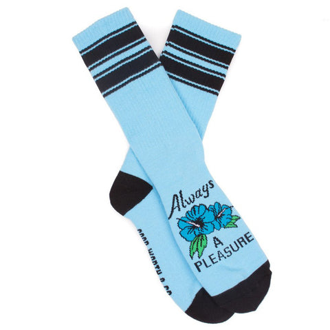 Good Worth Always A Pleasure Socks (Blue)